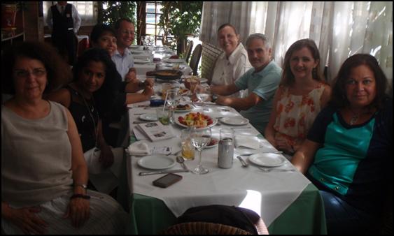 Editorial Board Member lunch in Rio De Janeiro