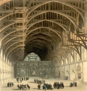 Westminster Hall in the early 19th century