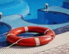 swimming pool and lifebelt