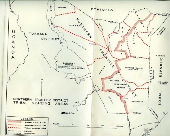 Kenya's Northern Frontier District Boundary