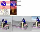 5. Simulation of motorcycle impact against road sign