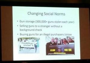 Gun violence presentation