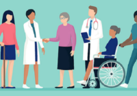Patients engaging collaboratively with healthcare professionals.