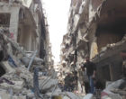 Damage in the Christian quarter of Aleppo (image from WikiCommons)