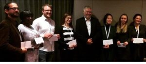 Poster winners with the BSP President, Prof.Mark Taylor