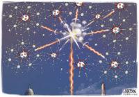 Coronavirus fireworks