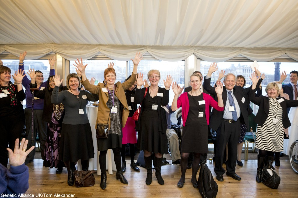 """""""Raising hands for rare disease at RDUK's Rare Disease Day reception in Westminster on 25 February"""""""