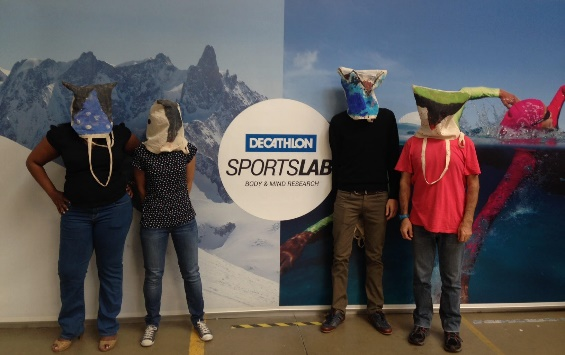 Scientists at Decathlon's research facility in Lille, France