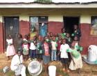 Orphanage in Kampala, Uganda with their home-produced probiotic Yoba yoghurt