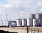 An ethanol fuel plant under construction
