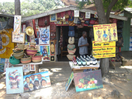 Traditional healer stall in Accra, Ghana.