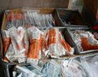 Needle exchange supplies. Photographed in Seattle, Washington.