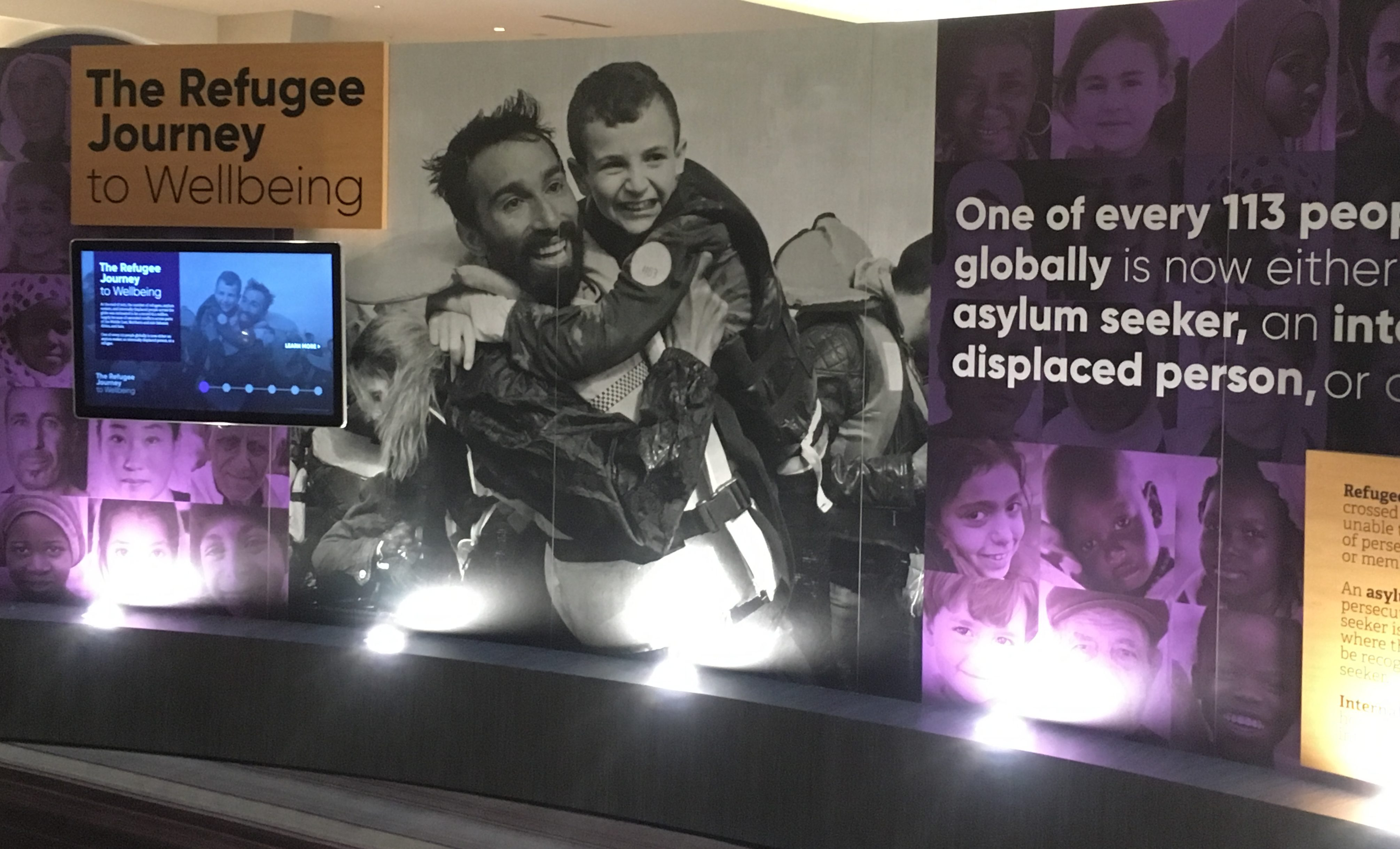 """The """"Refugee Journey to Wellbeing"""" exhibit"""