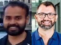Abhishek Samantray and Paolo Pin